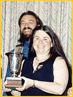 Mike and Linda with DATC team trophy